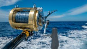 gold fishing reel