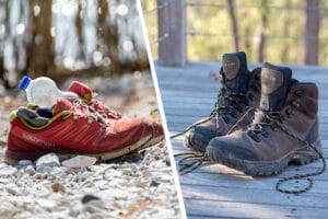 hiking boots and runners